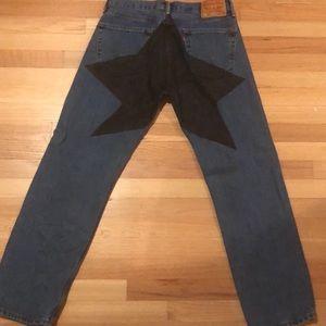 Custom star vintage Levi's  jeans 32waist